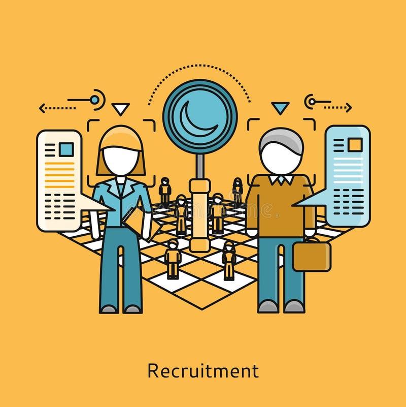 Recruitment Icon Flat Design Concept vector illustration