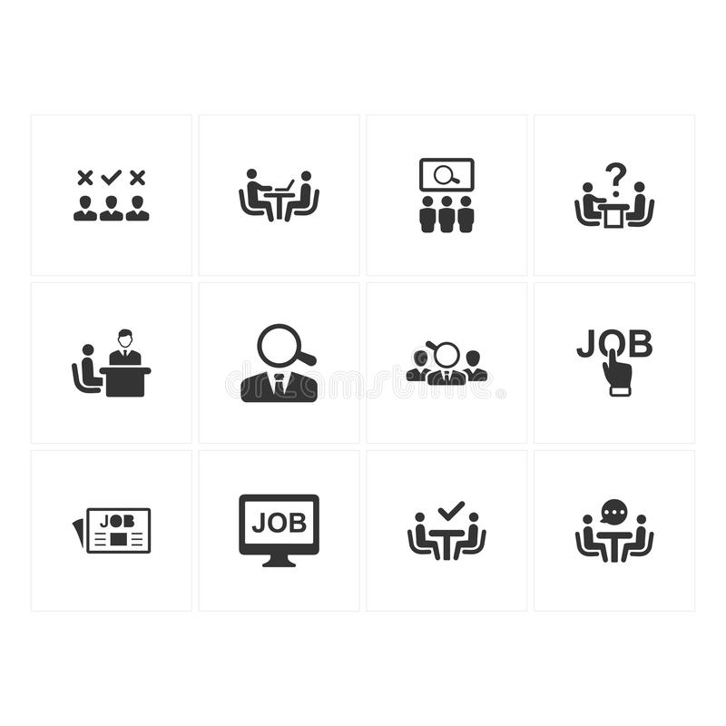 Recruitment Icons - Gray Version vector illustration