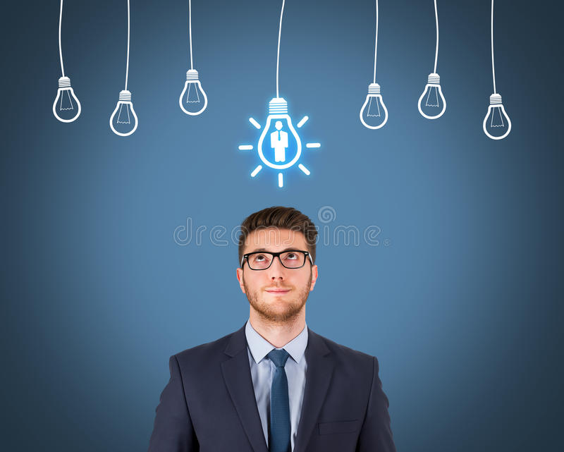 Recruitment and Idea With Person royalty free stock images