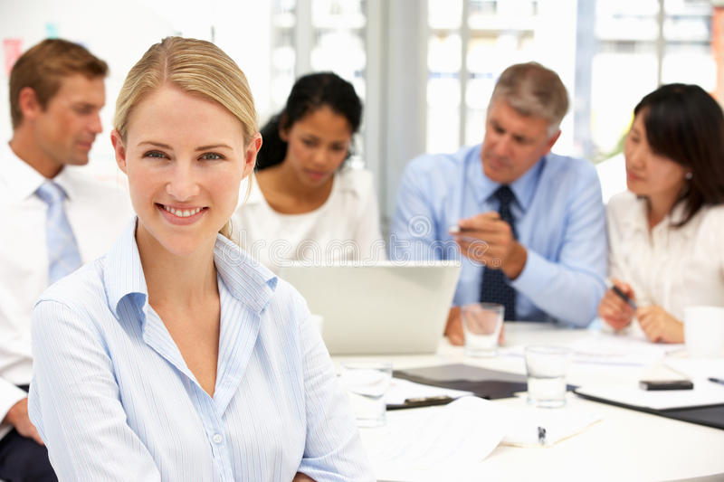 Recruitment office meeting royalty free stock image
