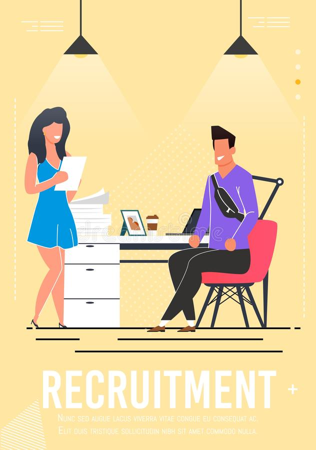 Free Recruitment Poster With Interviewing Candidate Royalty Free Stock Photos - 154474968