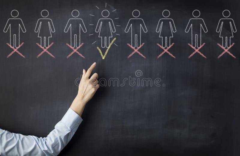 Recruitment process stock image