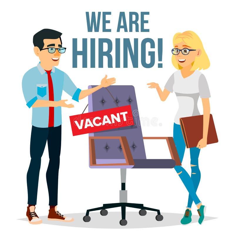 recruitment  free vacancy stock illustration  illustration
