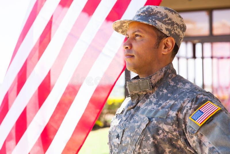 Recruta militar americano foto de stock