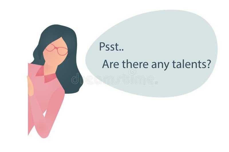 Recruta que procura por talentos ilustração do vetor