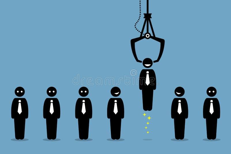 Recrutamento de recrutamento do trabalho pela empresa do emprego ilustração stock