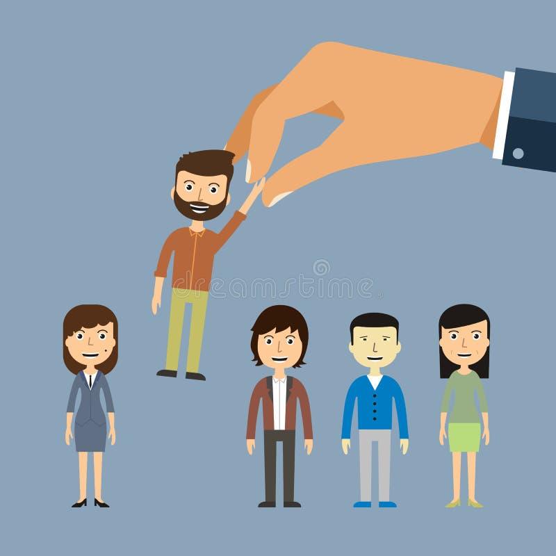 Recrutamento de recrutamento do trabalho pela empresa do emprego Procuras de emprego, ilustração stock
