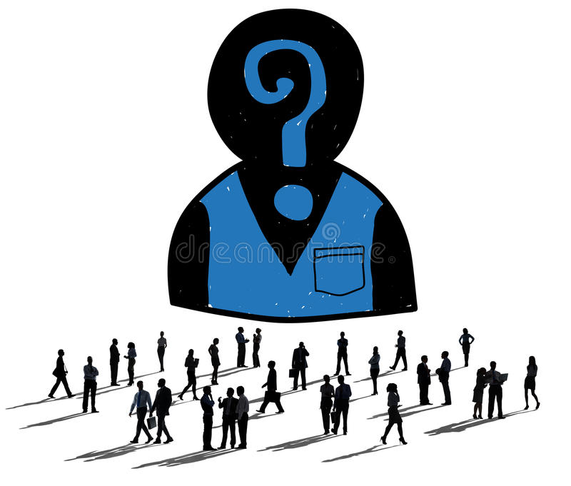 Recrutamento do emprego da avaliação que contrata procurando o conceito ilustração stock