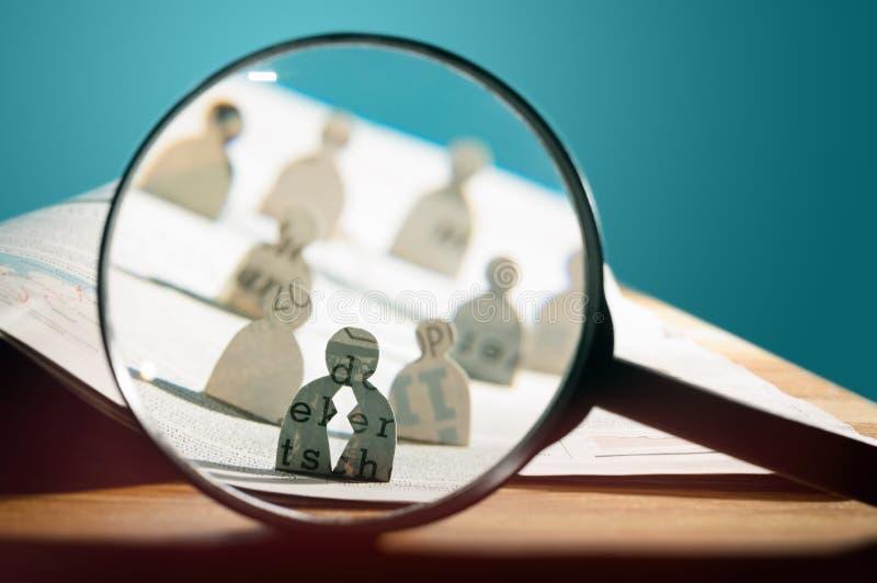 Recrutamento do negócio ou conceito de aluguer da foto fotos de stock