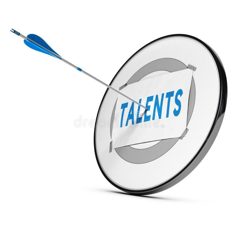 Recrutamento ou aquisição do talento. Conceito ilustração stock