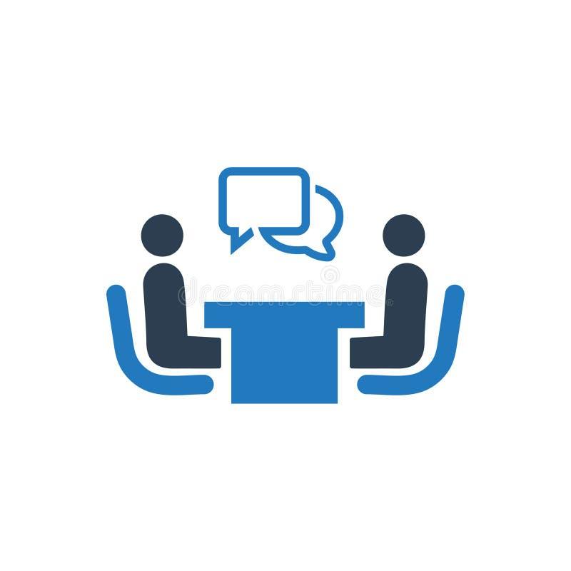 Recrutement, icône d'entrevue illustration de vecteur