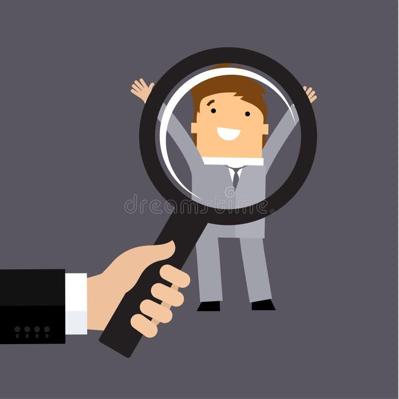 Recrutement ou concept de sélection illustration libre de droits