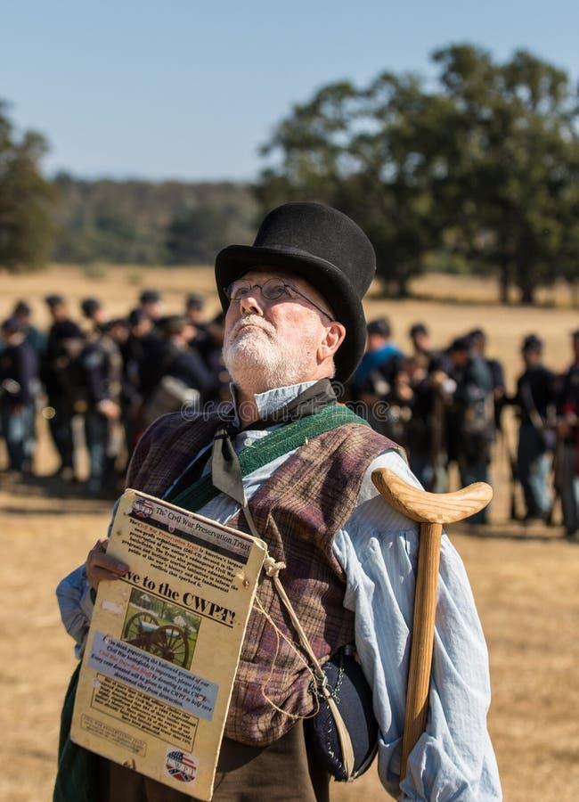 Recruteur de guerre civile images stock