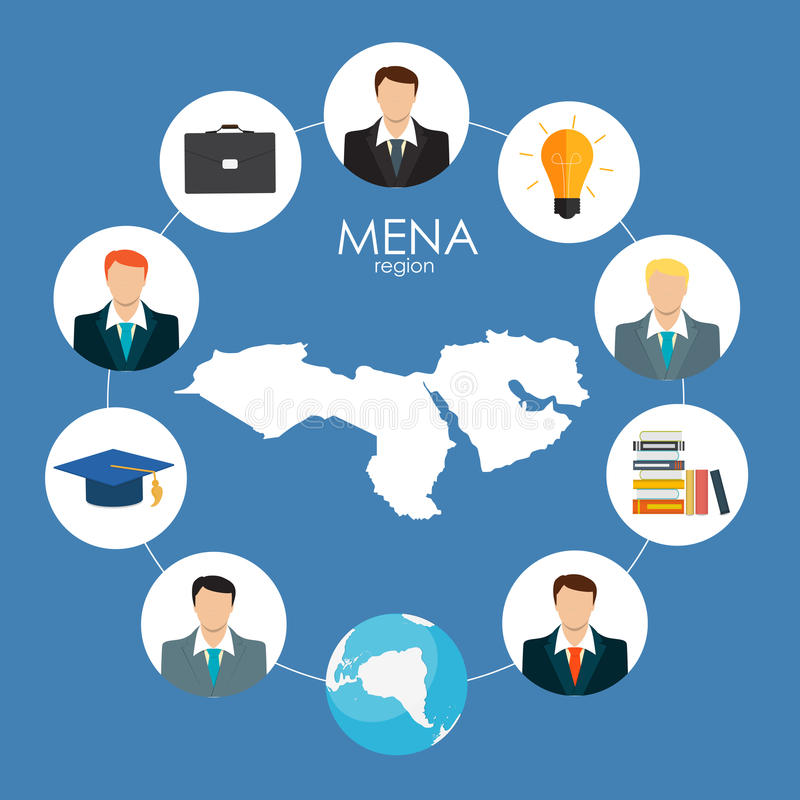 Recrutmentstrategiaffärsidé Yttre & internationellt r royaltyfri illustrationer