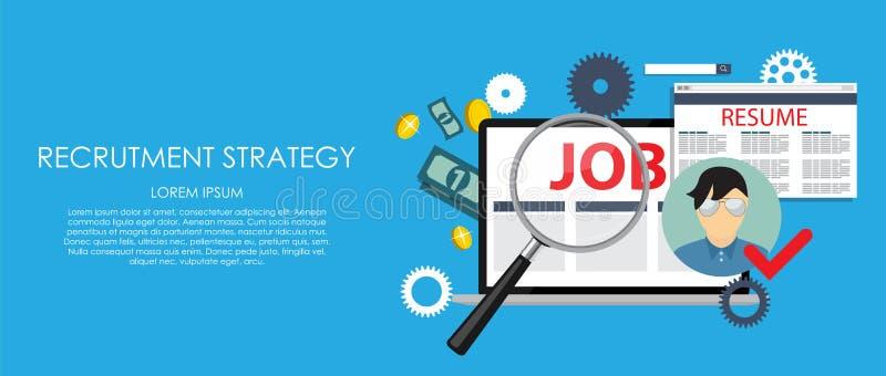 Recrutmentstrategiaffärsidé Yttre och internationellt r vektor illustrationer