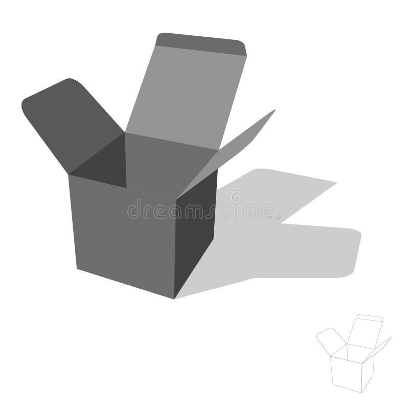 Rectángulo abierto Aislado en el fondo blanco ilustración del vector 3d libre illustration