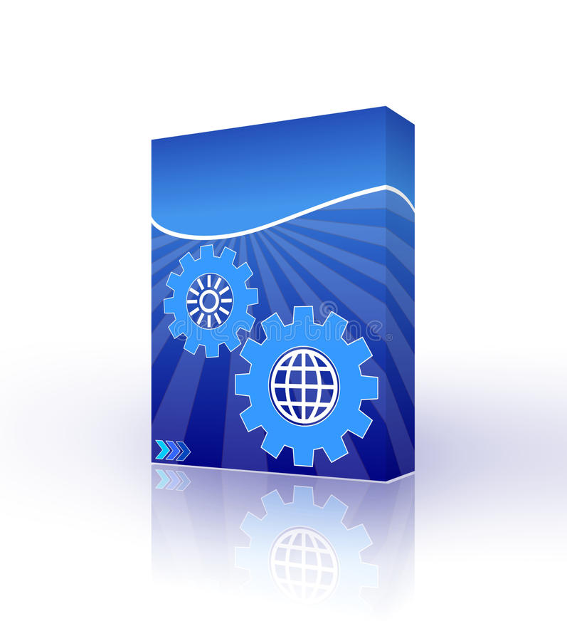 Rectángulo azul del software ilustración del vector