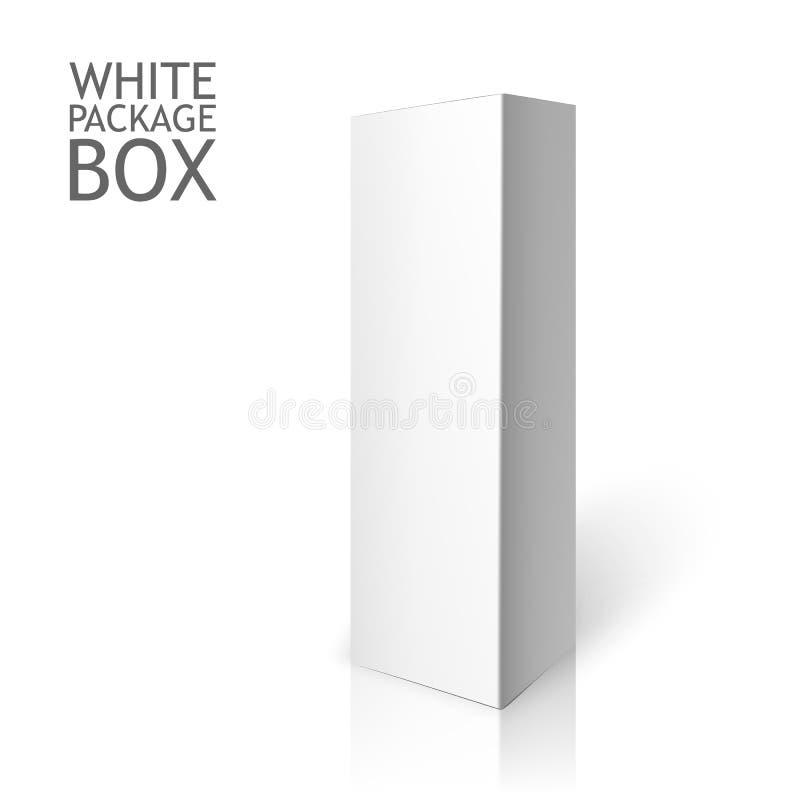 Rectángulo blanco del conjunto Plantilla de la maqueta stock de ilustración