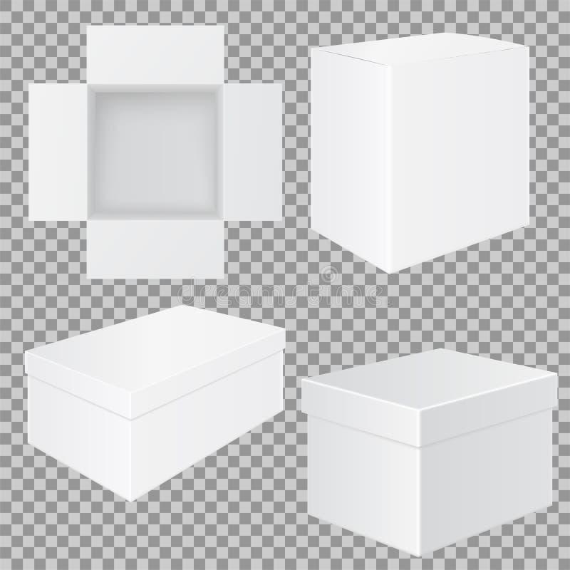 Rectángulo blanco Sistema de maquetas stock de ilustración