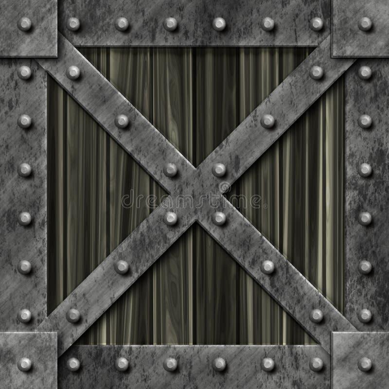 Download Rectángulo Bloqueado Fuerte Del Metal Stock de ilustración - Ilustración de placa, encadenamiento: 7288338