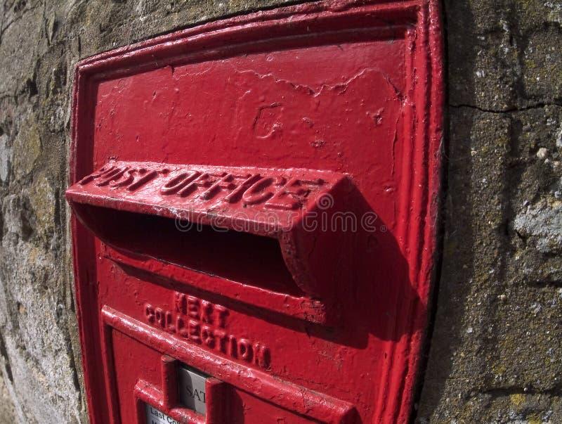 Rectángulo británico viejo del poste foto de archivo