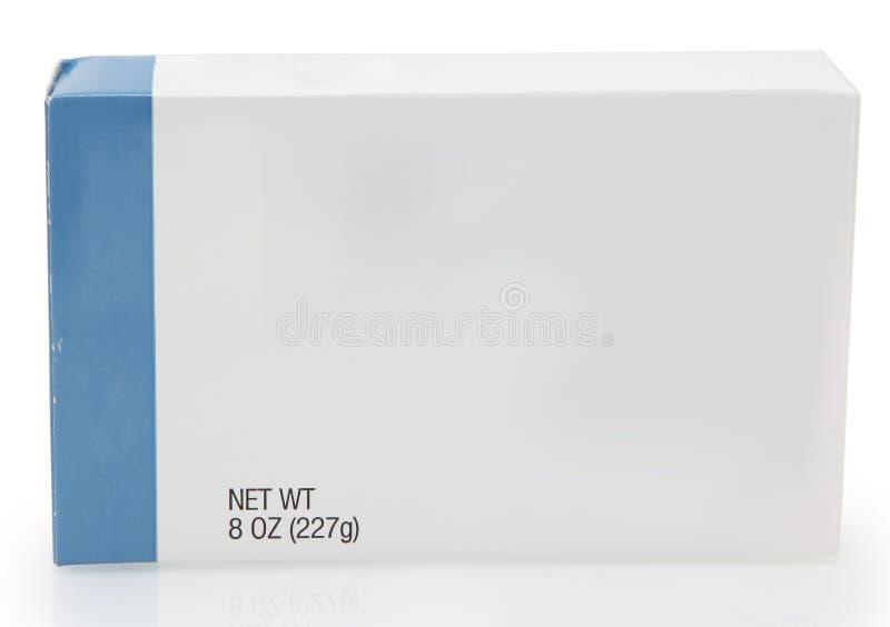 Rectángulo de alimento con la escritura de la etiqueta en blanco fotos de archivo libres de regalías