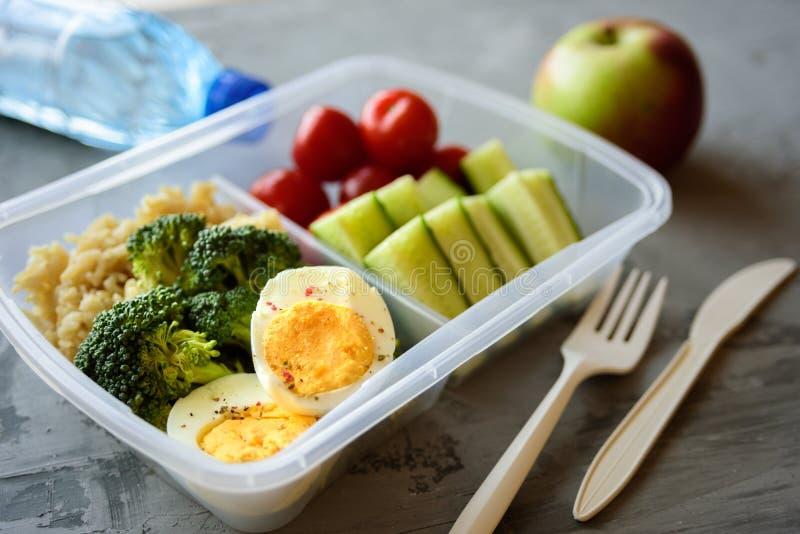 Rectángulo de almuerzo vegetariano sano imágenes de archivo libres de regalías