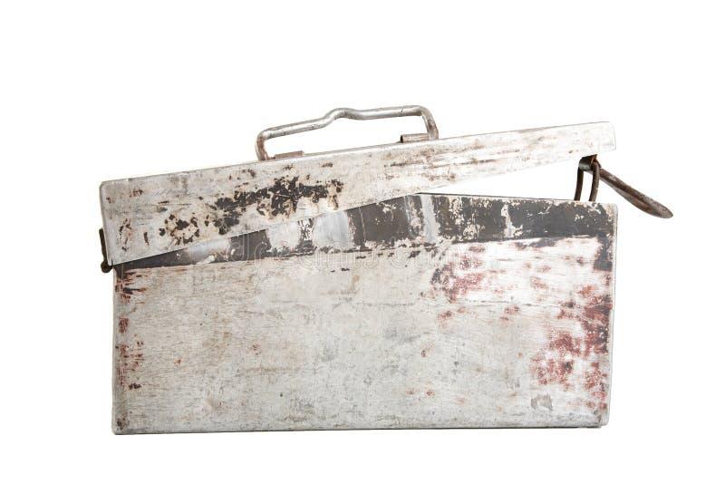 Rectángulo de aluminio viejo para la cinta machine-gun imagen de archivo libre de regalías