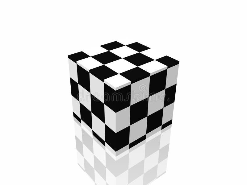 Caja de B&w en el espejo fotografía de archivo libre de regalías