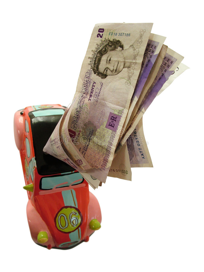 Rectángulo de dinero del coche fotos de archivo libres de regalías