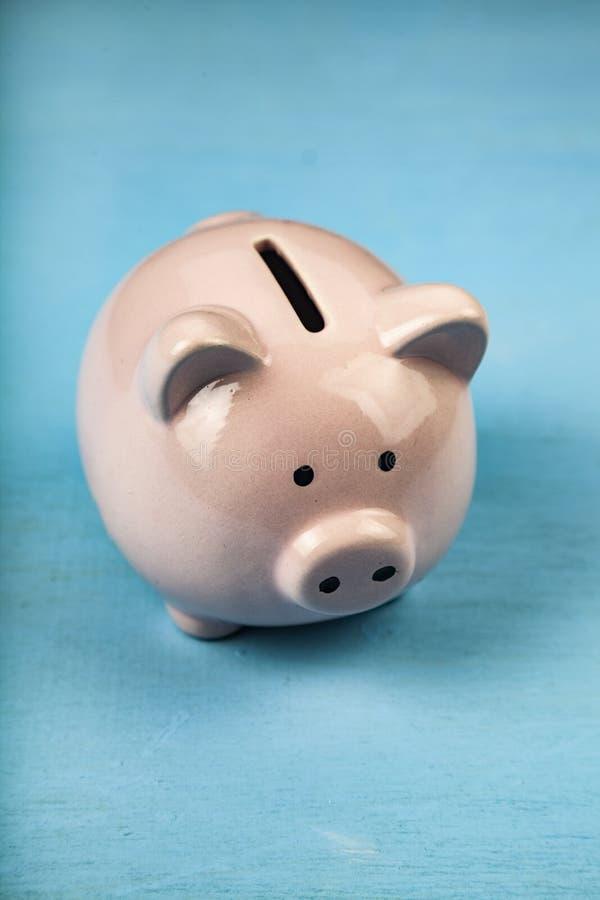 Rectángulo de dinero rosado del cerdo imagenes de archivo