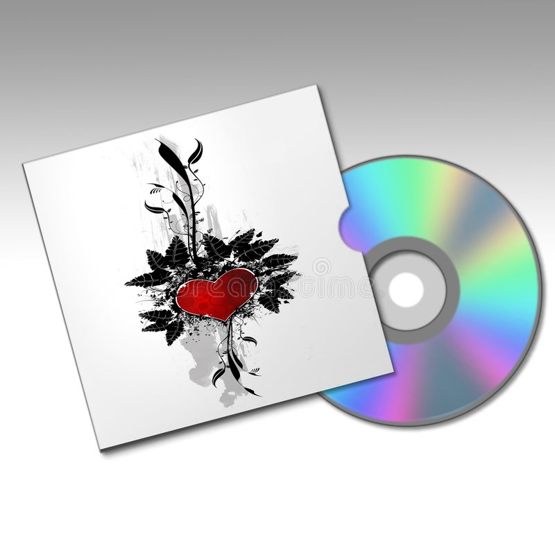 Rectángulo de Dvd con un diseño del corazón libre illustration