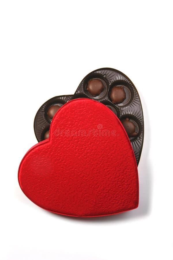 Rectángulo de la dimensión de una variable del corazón de chocolates foto de archivo