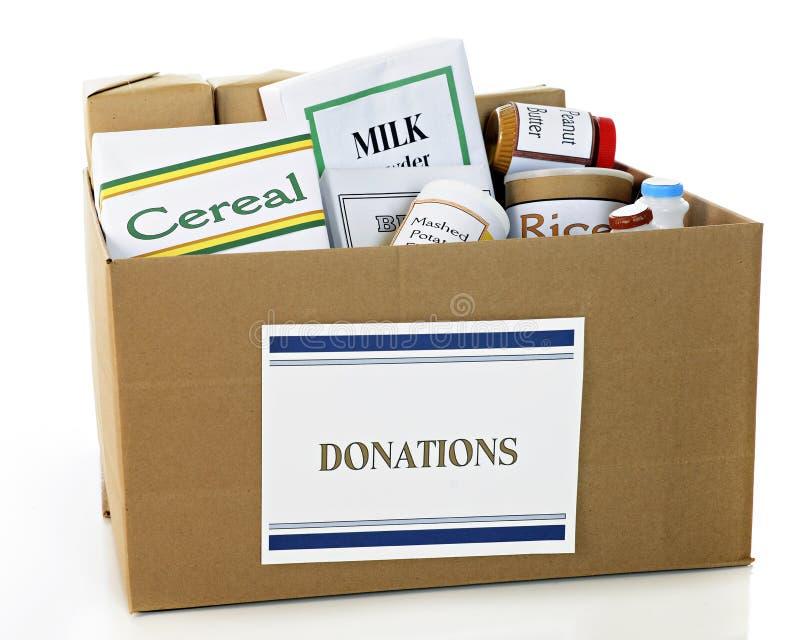 Rectángulo de la donación del alimento imagen de archivo libre de regalías