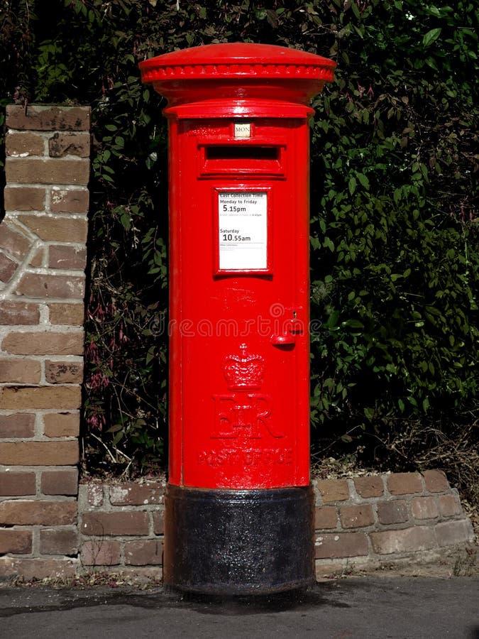 Rectángulo de la oficina de correos británico imagenes de archivo