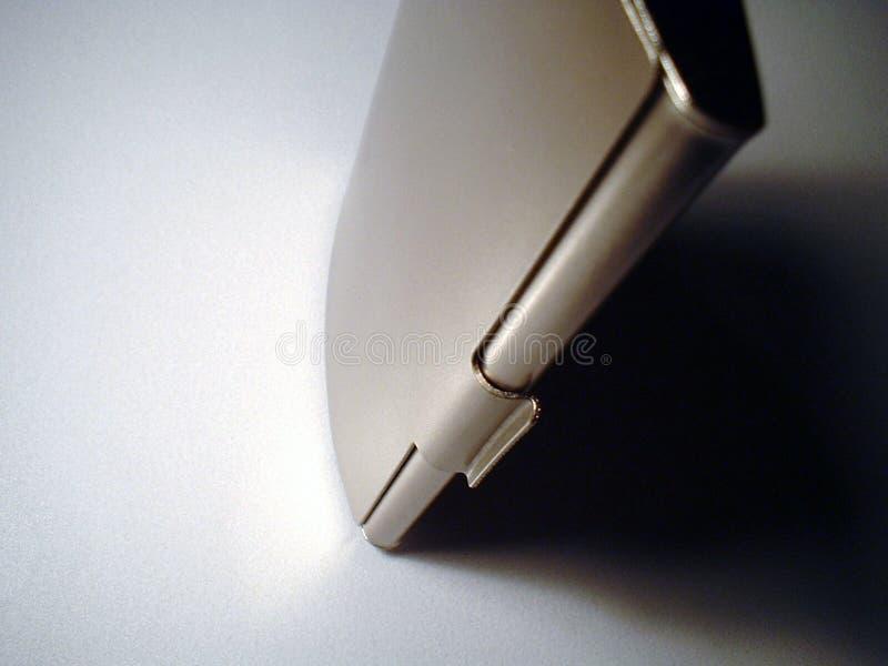 Rectángulo de la visitar-tarjeta del metal imagen de archivo libre de regalías