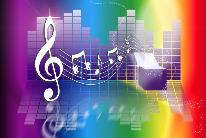 Rectángulo de música del arco iris libre illustration