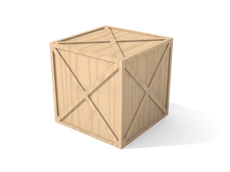 Rectángulo de madera stock de ilustración