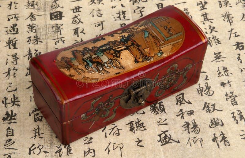 Rectángulo de madera chino imagenes de archivo