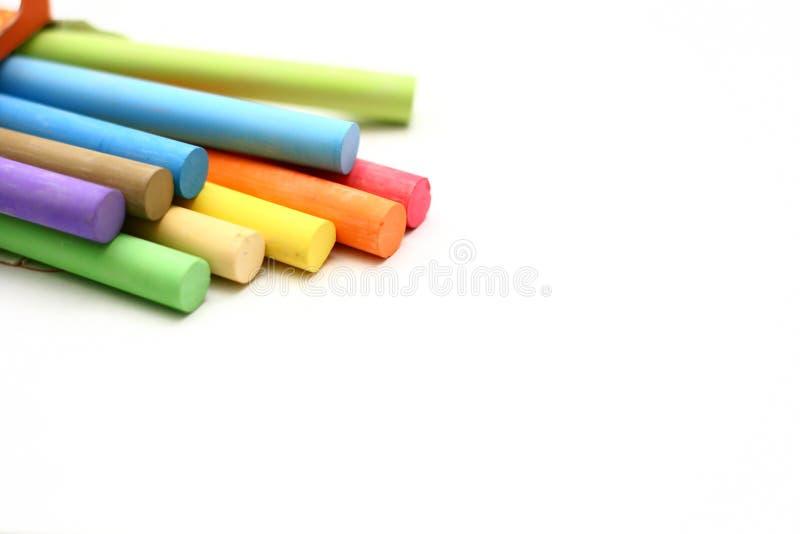 Rectángulo de palillos de la tiza del color imagen de archivo libre de regalías
