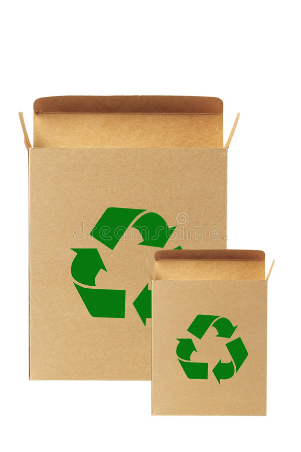 Rectángulo de papel reciclado. imagen de archivo libre de regalías