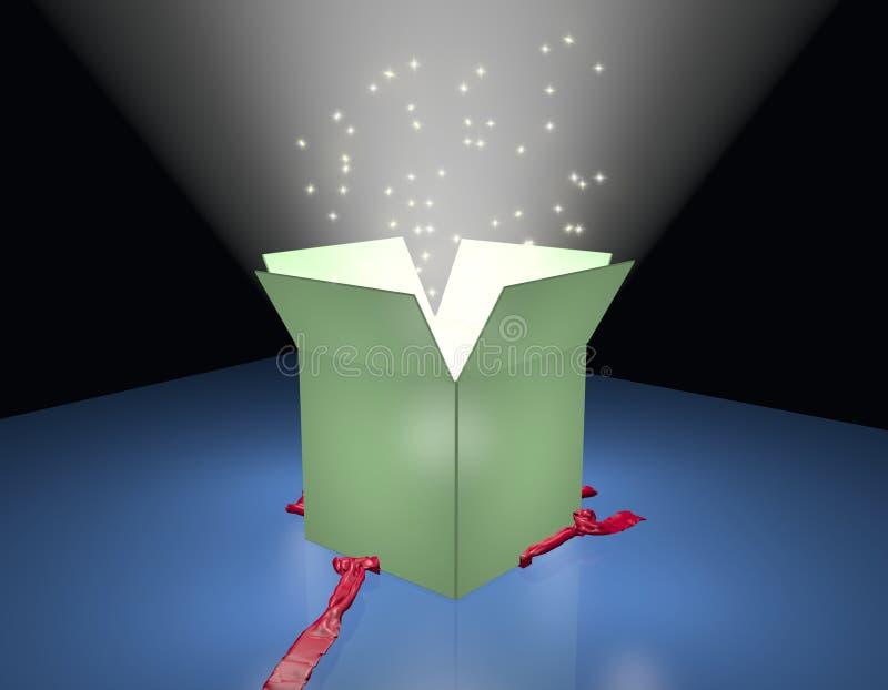 Rectángulo de regalo abierto libre illustration