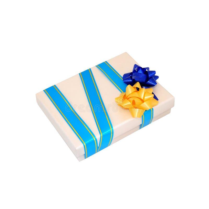 Rectángulo de regalo amarillento