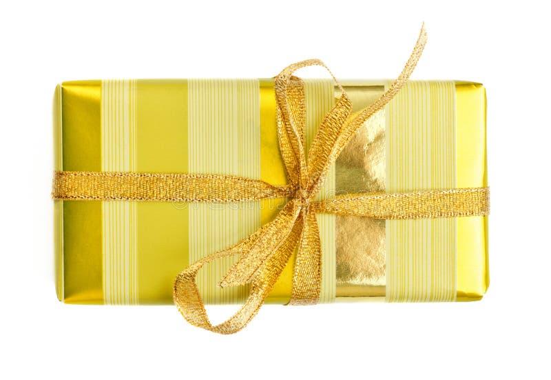 Rectángulo de regalo amarillo foto de archivo