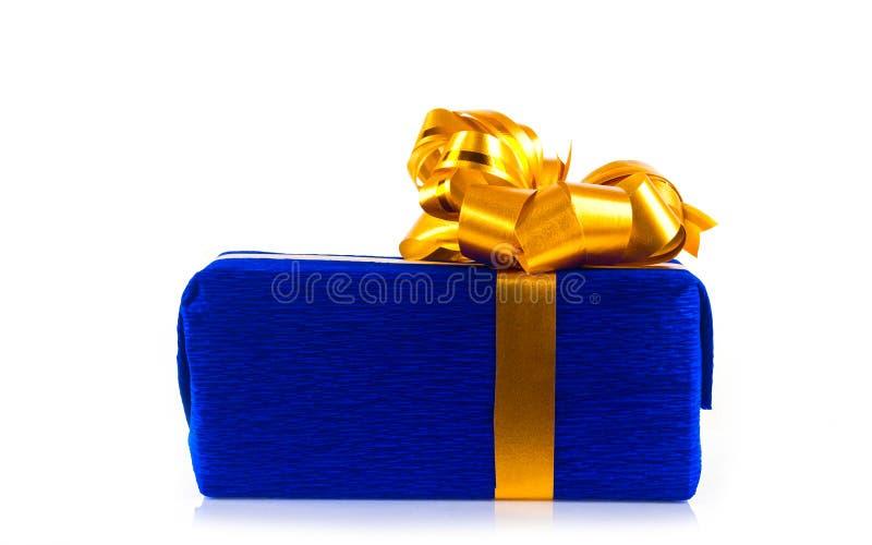 Rectángulo de regalo azul foto de archivo