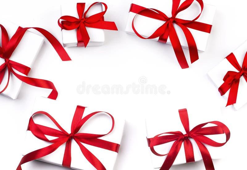 Rectángulo de regalo blanco fotos de archivo