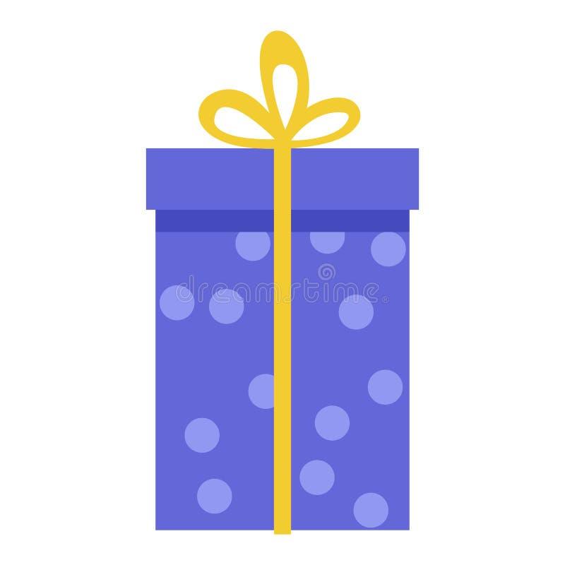 Rectángulo de regalo coloreado stock de ilustración