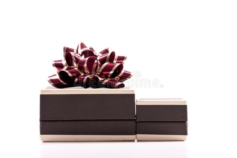 Rectángulo de regalo de la joyería fotografía de archivo