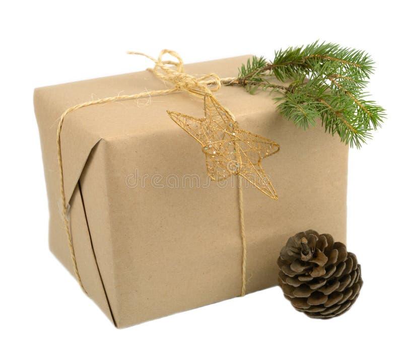Rectángulo de regalo de la Navidad fotografía de archivo libre de regalías