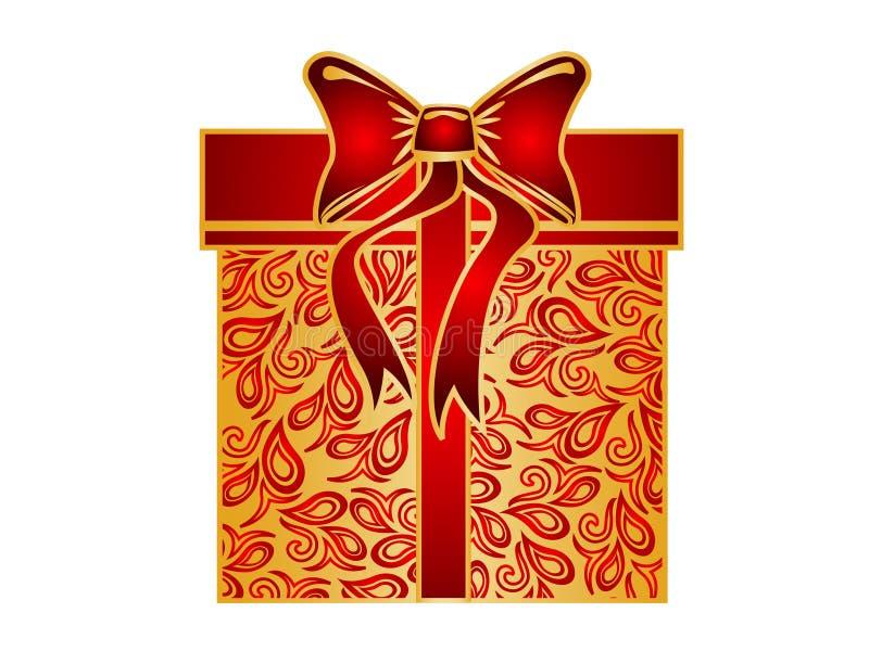 Rectángulo de regalo de la Navidad ilustración del vector